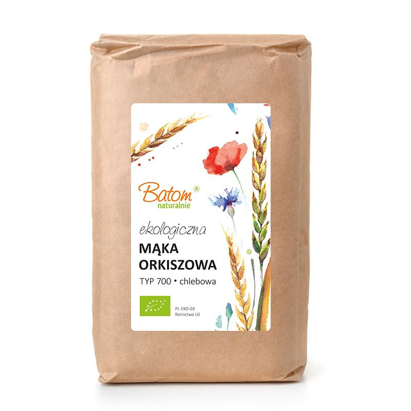 Mąka orkiszowa TYP 700 chlebowa 1kg*BATOM*BIO - opakowanie zbiorcze po 10 szt.
