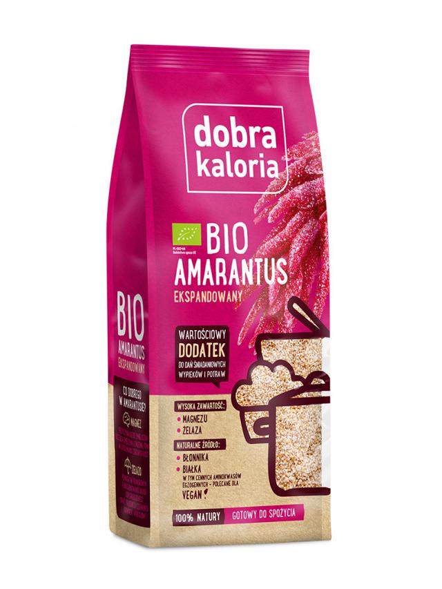 Amarantus ekspandowany 120g*DOBRA KALORIA*BIO - opakowanie zbiorcze po 7 szt.