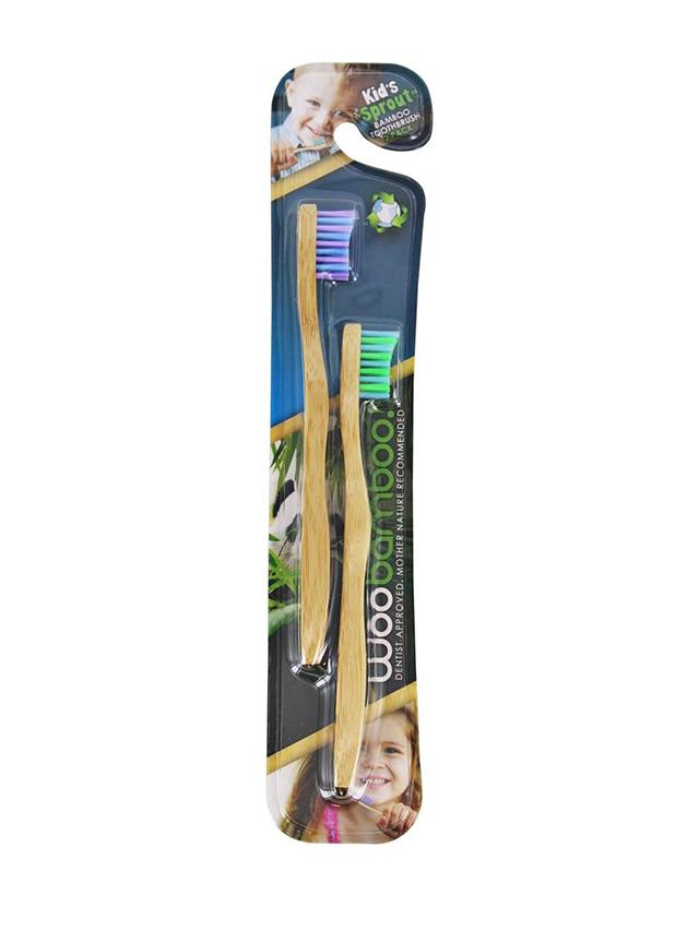 Szczoteczka bambusowa do zębów dla dzieci 2szt*WOOBAMBOO*