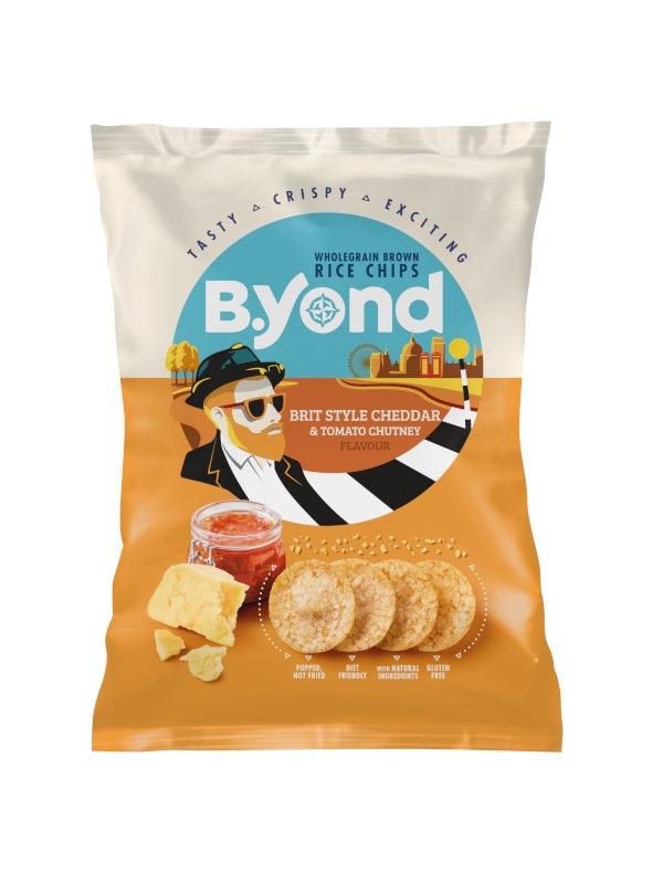 Chipsy ryżowe pełnoziarniste ser cheddar / sos pomidorowy 70g*B.YOND*