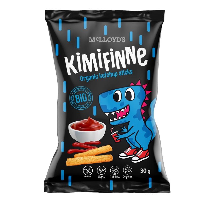 Chrupki kukurydziane / frytki bezglutenowe ketchupowe 30g*KIMIFINNE*BIO
