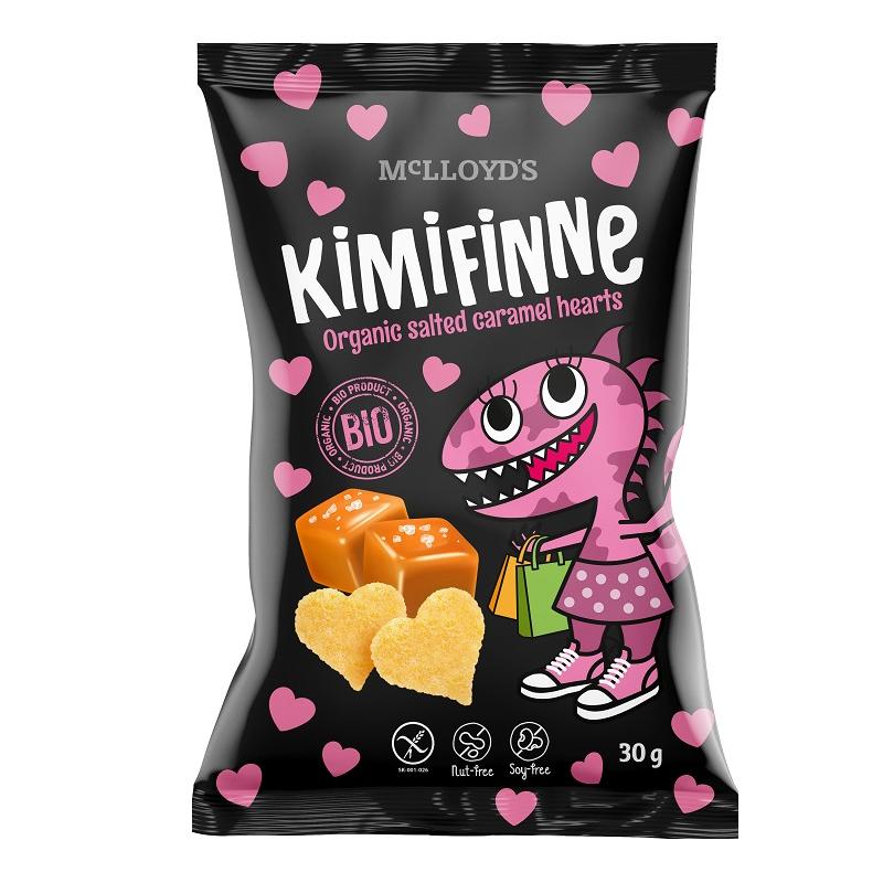 Chrupki kukurydziane / serca bezglutenowe solony karmel 30g*KIMIFINNE*BIO