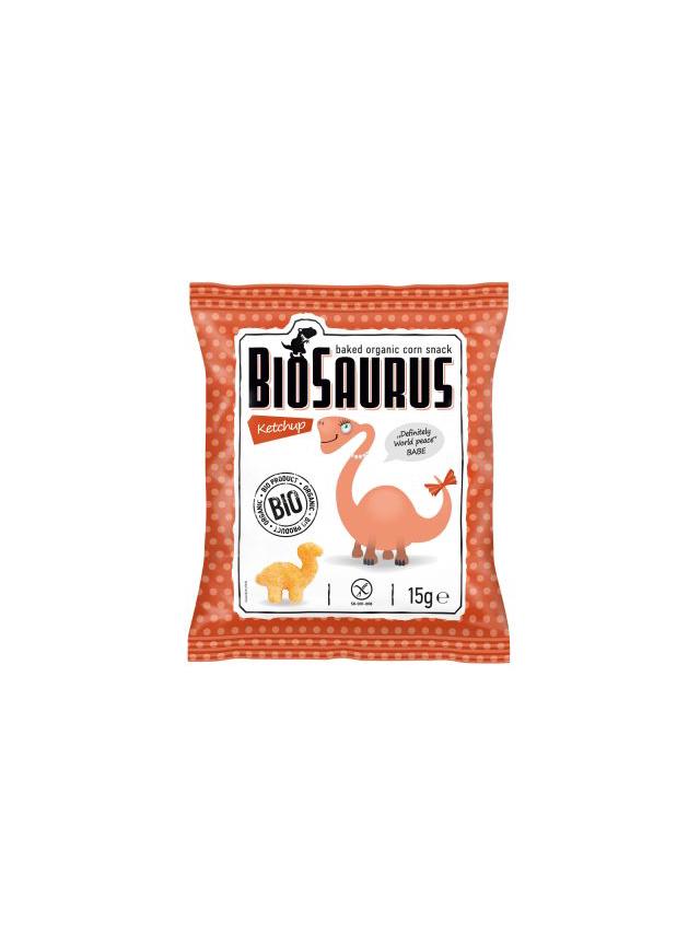 Chrupki kukurydziane bezglutenowe z ketchupem 15g*BIOSAURUS*BIO TERMIN: 11.07.2020