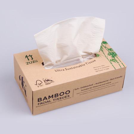 Chusteczki higieniczne bambusowe 100szt*BAMBOO ZUZII*