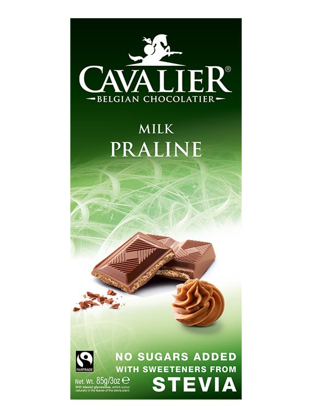 Czekolada mleczna z nadzieniem pralinowym słodzona stewią 85g*CAVALIER*