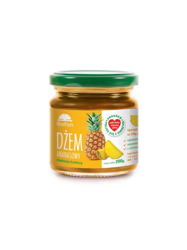 Dżem ananasowy słodzony fruktozą 200g*BARTFAN*