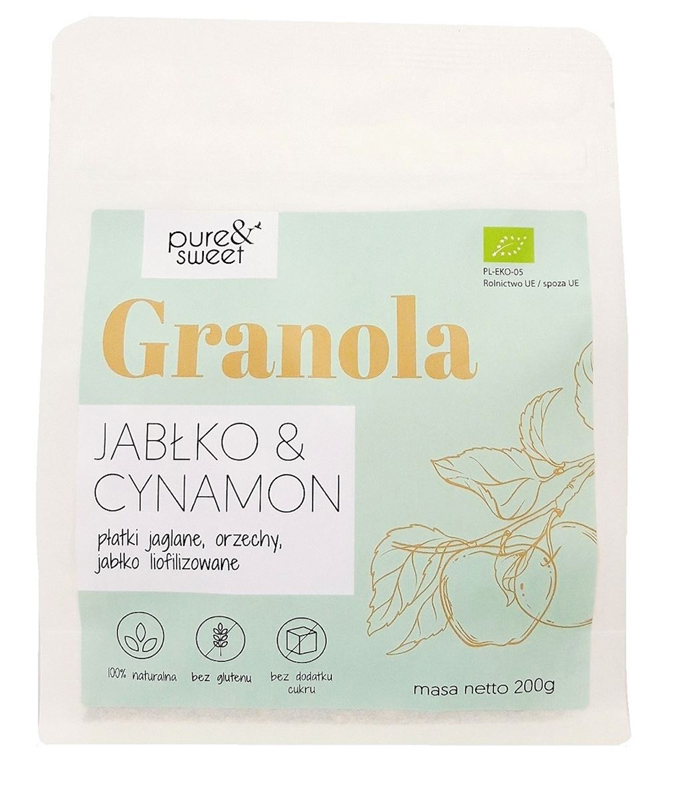 Musli / granola jabłko / cynamon bezglutenowa 200g*PURE&SWEET*BIO