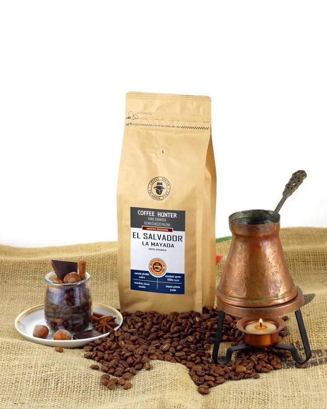 Kawa **El Salvador** Arabica 100% ziarnista 250g*COFFEE HUNTER* TERMIN: 28.12.2021