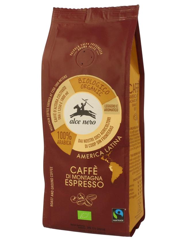 Kawa Arabica mielona espresso 250g*ALCE NERO*BIO