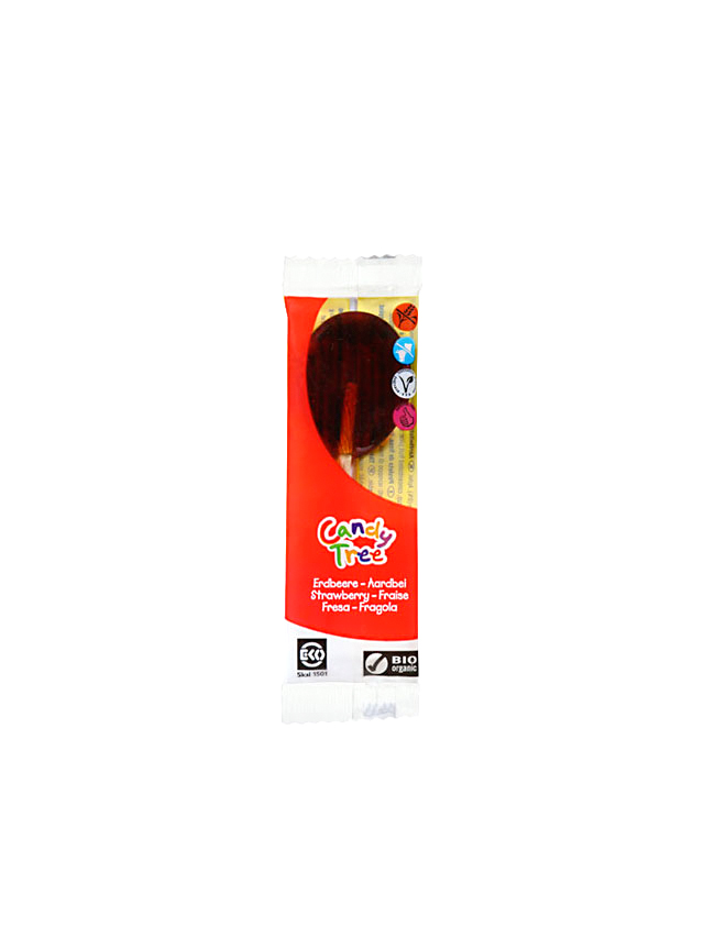 Lizak truskawkowy 13g*CANDY TREE*BIO TERMIN: 30.11.2021