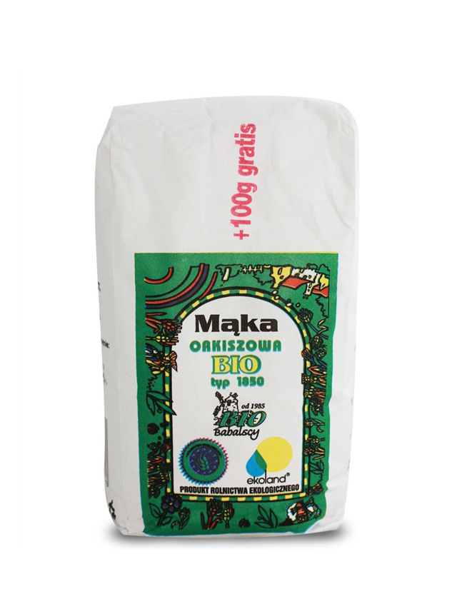 Mąka orkiszowa TYP 1850 razowa 1kg*BABALSCY*BIO TERMIN: 26.04.2021