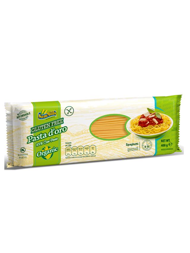 Makaron kukurydziany bezglutenowy spaghetti 400g*SAMMILLS*BIO  - najlepiej spożyć przed: 19.07.2020