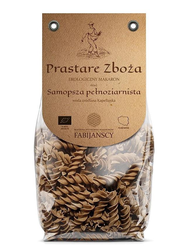 Makaron z pszenicy samopszy pełnoziarnisty świderek 250g*FABIJAŃSCY*BIO