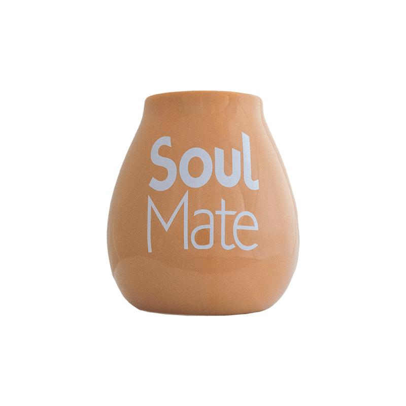 Matero ceramiczne **Soul Mate** 350ml beżowe