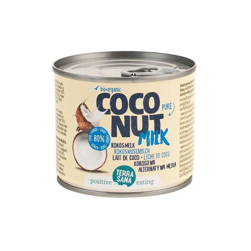 Mleczko kokosowe 80% puszka 200ml*TERRASANA*BIO - opakowanie zbiorcze po 8 szt.