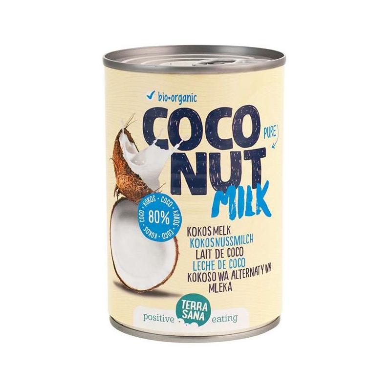 Mleczko kokosowe 80% puszka 400ml*TERRASANA*BIO - opakowanie zbiorcze po 6 szt.