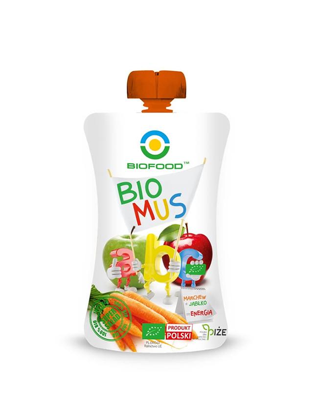 Mus owocowy **Energia**  marchew / jabłko 90g*BIOFOOD*BIO