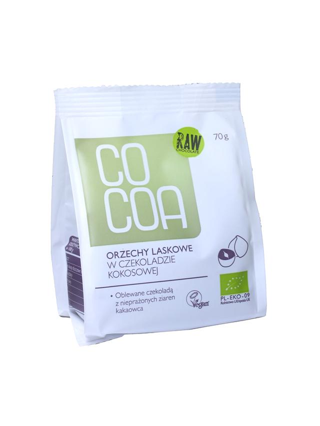 Orzechy laskowe w surowej czekoladzie kokosowej 70g*COCOA*BIO