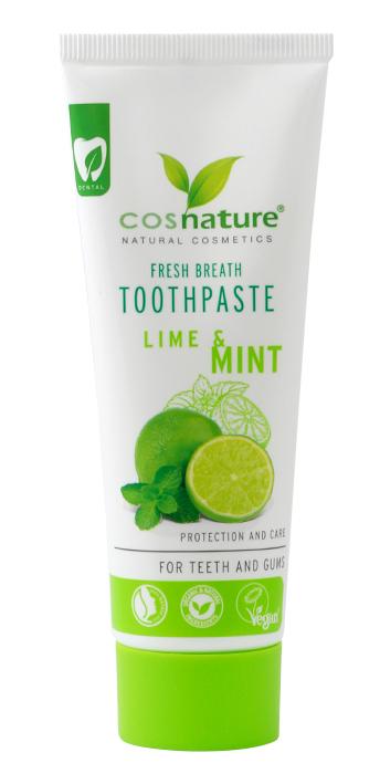 Pasta do zębów o smaku limonka / mięta 75ml*COSNATURE*