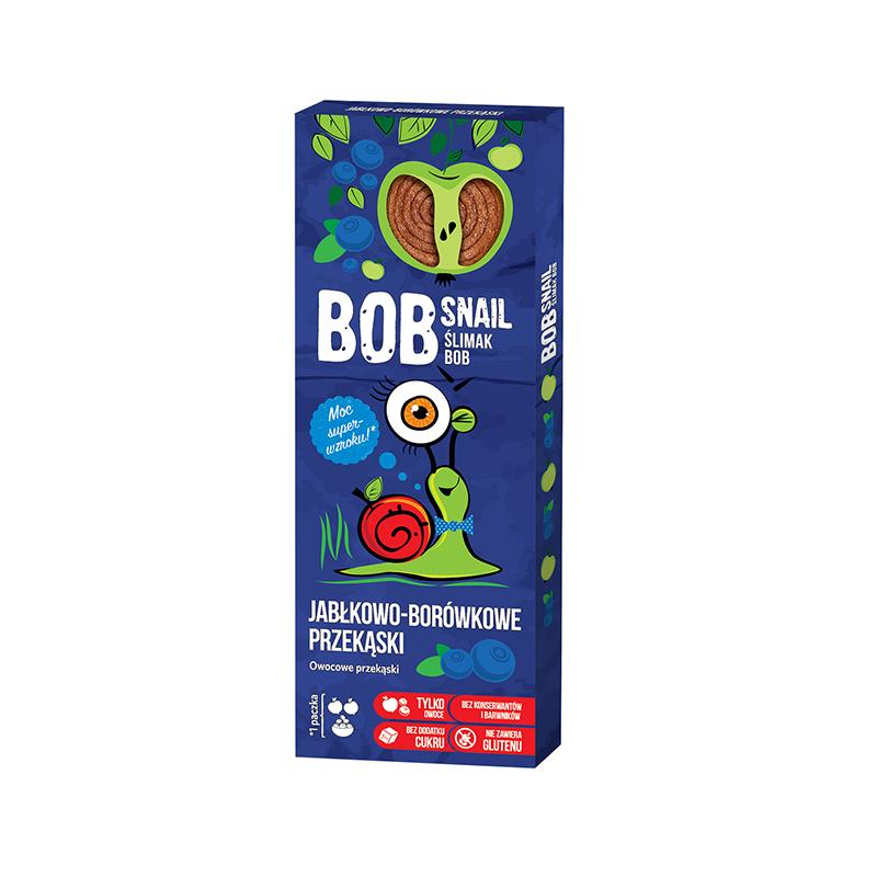 Przekąska owocowa jabłko / borówki 30g*BOB SNAIL*