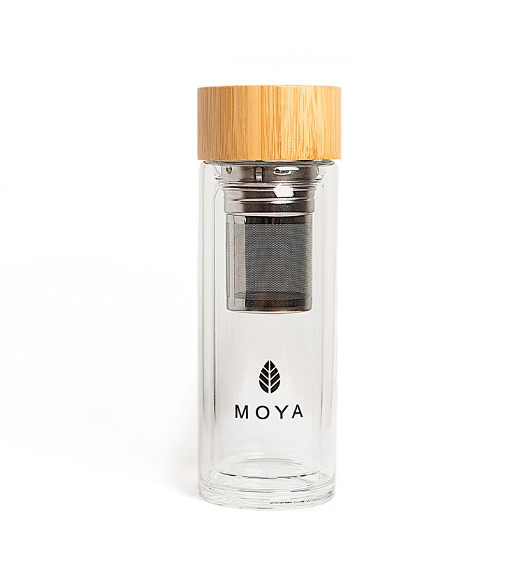 Shaker szklany do matchy 320ml*MOYA*