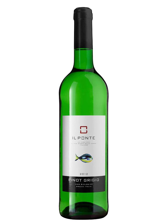 Wino białe / wytrawne / Włochy **Pinot Grigio** 750ml*IL PONTE*BIO