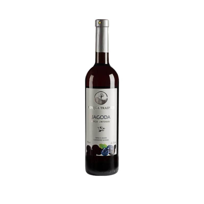 Wino **Potęga Tradycji** jagodowe / słodkie / Polska 750ml*VIN-KON*