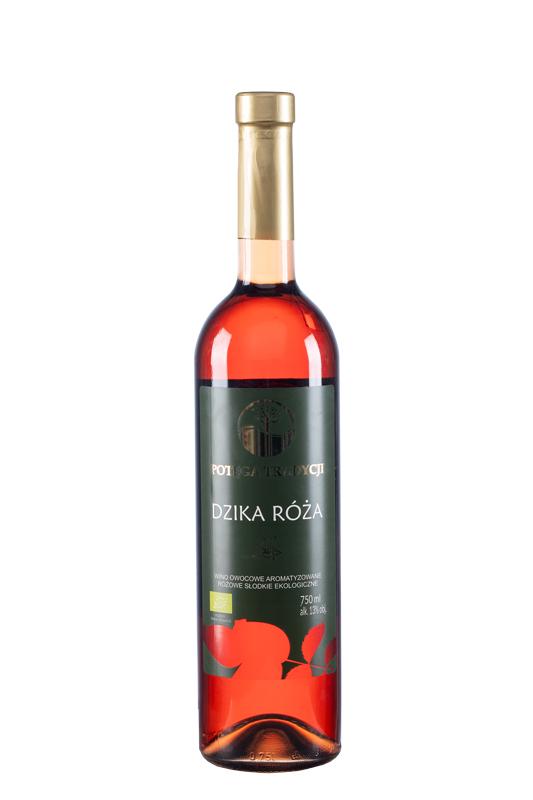 Wino z dzikiej róży / różowe / słodkie Polska 750ml*VIN-KON*BIO