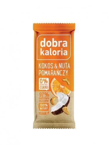Baton owocowy kokosowy z nutą pomarańczy 35g*DOBRA KALORIA* - opakowanie zbiorcze po 20 szt.