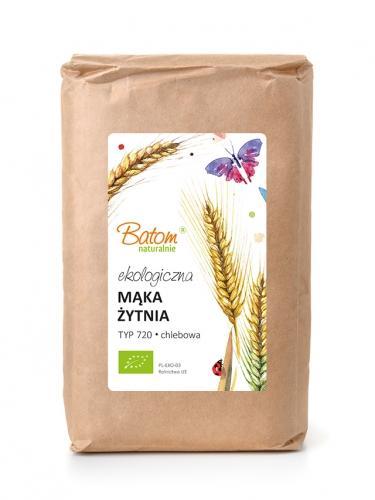 Mąka żytnia TYP 720 chlebowa 1kg*BATOM*BIO - opakowanie zbiorcze po 10 szt.