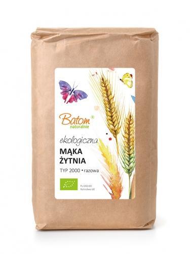 Mąka żytnia TYP 2000 razowa 1kg*BATOM*BIO - opakowanie zbiorcze po 10 szt.
