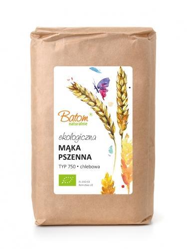 Mąka pszenna TYP 750 chlebowa 1kg*BATOM*BIO - opakowanie zbiorcze po 10 szt.