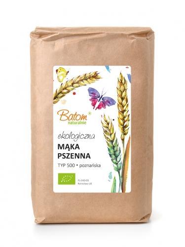 Mąka pszenna TYP 500 poznańska 1kg*BATOM*BIO - opakowanie zbiorcze po 10 szt.