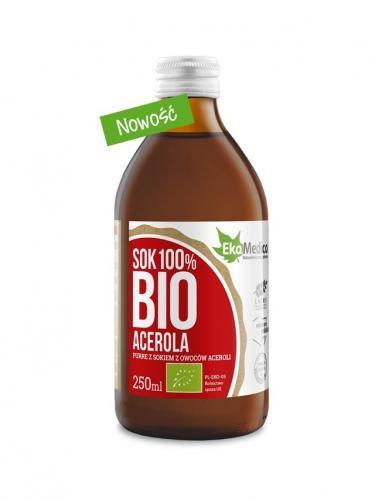 Acerola 100% puree / sok 250ml*EKAMEDICA*BIO