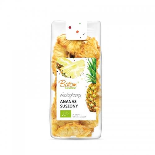 Ananas suszony krążki 125g*BATOM*BIO - opakowanie zbiorcze po 6 szt.