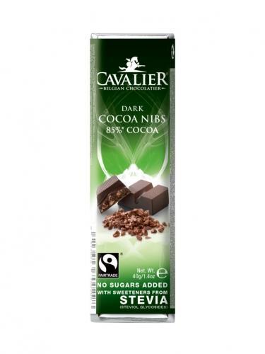 Baton czekolada deserowa / ziarno kakaowca słodzony stewią 40g*CAVALIER*