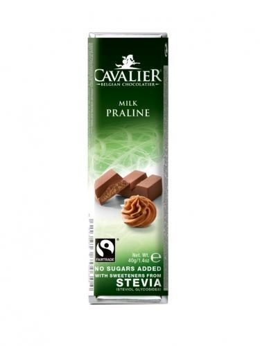 Baton mleczna czekolada / nadzienie pralinowe słodzony stewią 40g*CAVALIER*