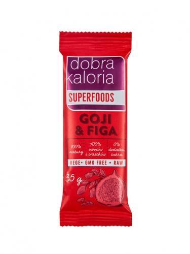 Baton owocowy goji / figa 35g*DOBRA KALORIA SUPERFOODS*