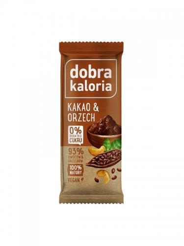 Baton owocowy kakao / orzech 35g*DOBRA KALORIA* - opakowanie zbiorcze po 20 szt.