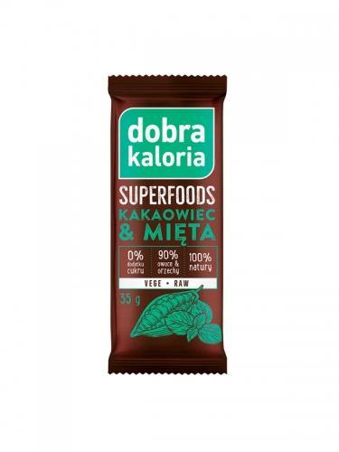 Baton owocowy kakaowiec / mięta 35g*DOBRA KALORIA SUPERFOODS*