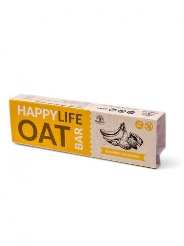 Baton owsiany banan / migdały 42g*HAPPY LIFE*BIO TERMIN: 31.05.2020