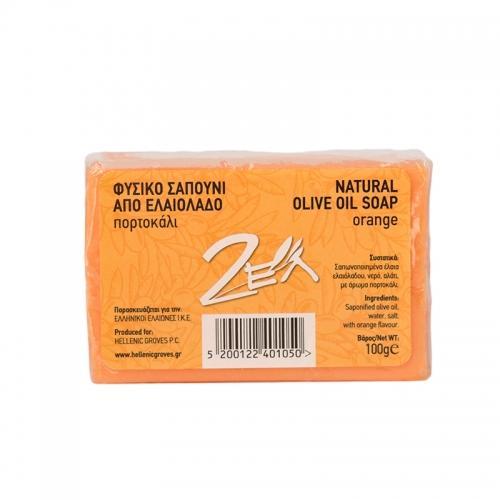 Mydło oliwkowe pomarańczowe kostka 100g*NATURAL OLIVE OIL SOAP*