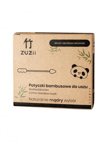 Patyczki bambusowe do uszu 100szt 2w1*ZUZII BAMBOO*