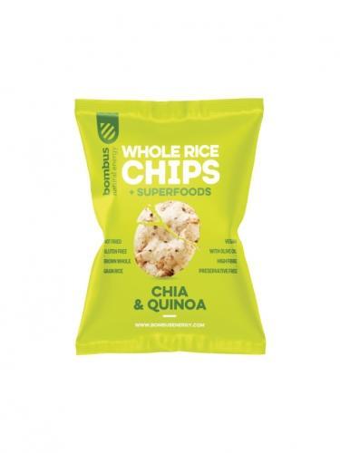 Chipsy **Whole Rice** ryżowe chia / quinoa 60g*BOMBUS*BIO