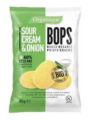 Chipsy **Bops** ziemniaczane śmietankowo / cebulowe 85g*ORGANIQUE*BIO
