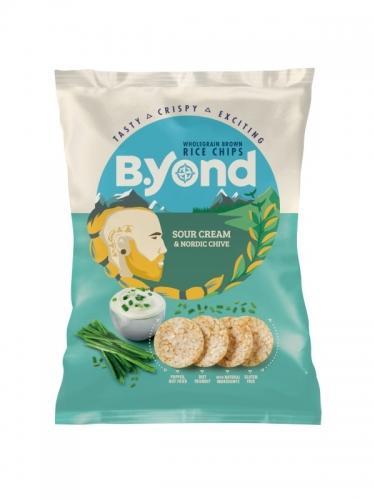Chipsy ryżowe pełnoziarniste śmietanka / cebula 70g*B.YOND*