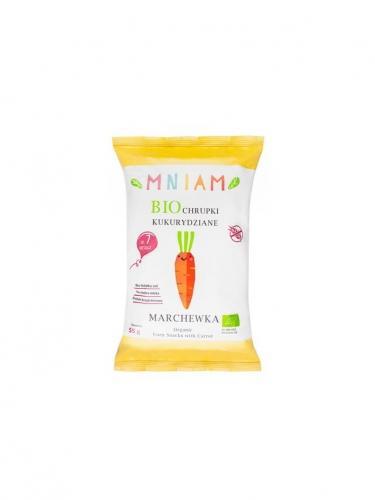 Chrupki kukurydziane z marchewką bezglutenowe 55g*MNIAM*BIO