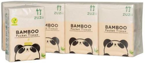 Chusteczki higieniczne bambusowe kieszonkowe 8szt*BAMBOO ZUZII*