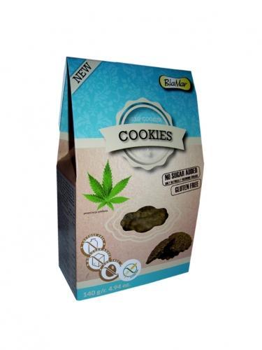 Ciastka **Hemp Cookies** z konopią bez dodatku cukru 120g*COOKIES BIAMAR*