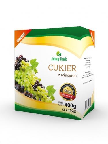 Cukier z winogron 400g*ZIELONY LISTEK* TERMIN: 02.04.2021